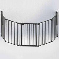 Noma 5-panels sikkerhetsgrind Modular metall svart 94238