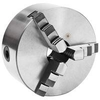 vidaXL Selvsentrerende chuck til dreiebenk 3 bakker 160 mm stål