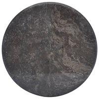 vidaXL Bordplate svart Ø50x2,5 cm marmor