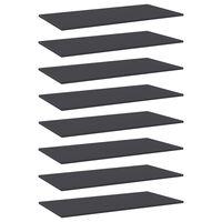 vidaXL Hylleplater 8 stk grå 80x20x1,5 cm sponplate