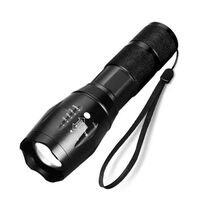 Vanntett zoombar LED-lommelykt - Svart