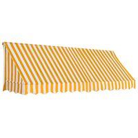 vidaXL Markise 300x120 cm oransje og hvit