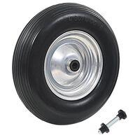 vidaXL Trillebårhjul med aksel solid PU 4,00-8 390 mm