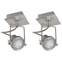 vidaXL Spotlys 2 stk sølv GU10