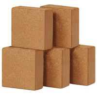 vidaXL Kokosblokker 5 stk 5 g 30x30x10 cm
