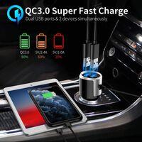 Trådløs FM-sender for bilen, Bluetooth 5.0 - Svart