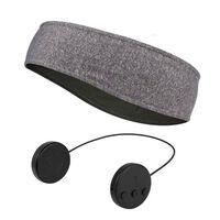 Pannebånd med Bluetooth-hodetelefoner og mikrofon - grå