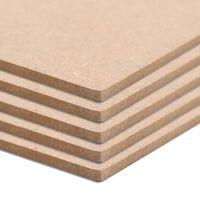 vidaXL Bordplater MDF 5 stk rektangulær 120x60 cm 2,5 mm