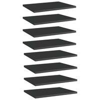 vidaXL Hylleplater 8 stk høyglans svart 40x30x1,5 cm sponplate