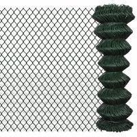 vidaXL Nettinggjerde stål 1,25x15 m grønn