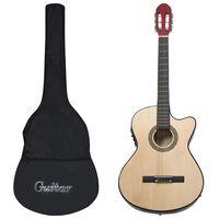 vidaXL Western gitarsett 12 deler med equalizer og 6 strenger