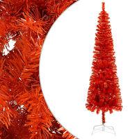 vidaXL Slankt juletre rød 180 cm