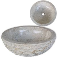 vidaXL Servant marmor 40 cm krem