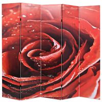 vidaXL Sammenleggbar romdeler 200x170 cm rose rød