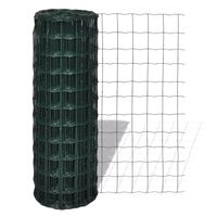 vidaXL Euro gjerde stål 25 x 0,8 m grønn