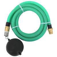 vidaXL Sugeslange med messingkontakter 7 m 25 mm grønn