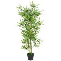 vidaXL Kunstig bambus med potte 120 cm grønn