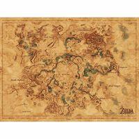 Zelda, Maxi Poster - Hyrule kart