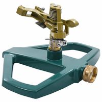 vidaXL Roterende vannspreder grønn 21x22x13 cm metall