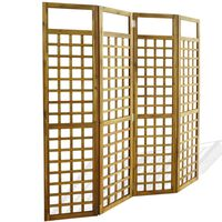 vidaXL 4-panels romdeler/ espalier akasie heltre 160x170 cm