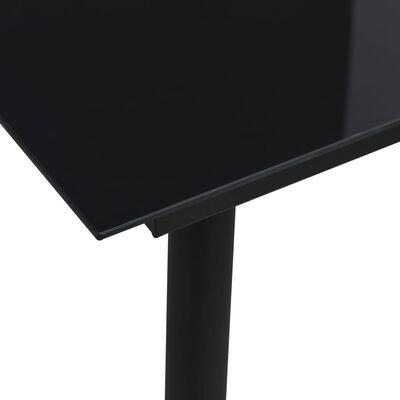 vidaXL Utendørs spisestue 7 deler bomullstau stål svart
