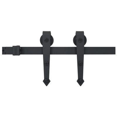 vidaXL Utstyr for skyvedør 200 cm stål svart