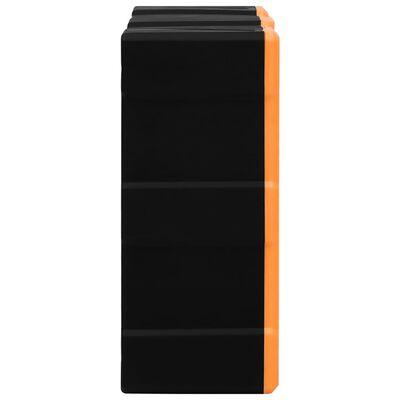 vidaXL Sortimentskap med 8 store skuffer 52x16x37 cm
