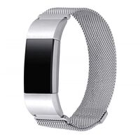 Fitbit Charge 2 armbånd milanesisk loop - Sølv - S