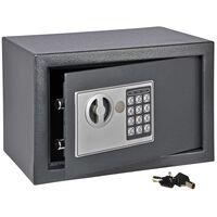 HI Safe med elektrisk lås mørkegrå 31x20x20 cm