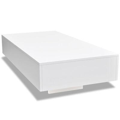 vidaXL Salongbord hvit høyglans