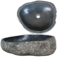 vidaXL Vaskeservant oval elvestein 38-45 cm