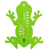 Nature Utendørs veggtermometer frosk grønn