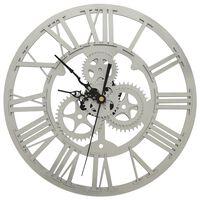 vidaXL Veggklokke sølv 30 cm akryl
