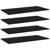 vidaXL Hylleplater 4 stk svart 100x50x1,5 cm sponplate