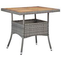 vidaXL Utendørs spisebord grå polyrotting og heltre akasie