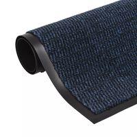 vidaXL Støvkontroll dørmatte rektangulær tuftet 90x150 cm blå