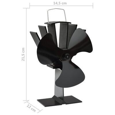 vidaXL Varmedrevet ovnsvifte 3 blader svart