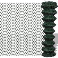 vidaXL Nettinggjerde stål 1,5x25 m grønn