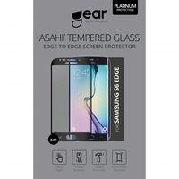 GEAR Herdet Glass Ashai 5.1 Samsung S6 Edge Full Fit Svart