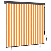 vidaXL Utendørs rullegardin 170x250 cm hvit og oransje