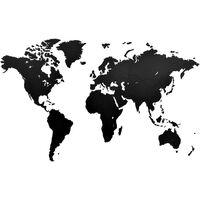 MiMi Innovations Verdenskart tre veggdekorasjon Luxury svart 130x78 cm