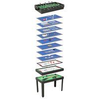vidaXL Multi-spillbord 15-i-1 121x61x82 cm svart