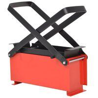 vidaXL Papirbrikettpresse stål 34x14x14 cm svart og rød