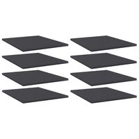 vidaXL Hylleplater 8 stk grå 40x50x1,5 cm sponplate