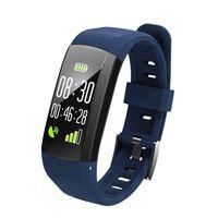 S906 Vanntett Aktivitetsarmbånd for iOS og Android - Blå