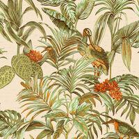 DUTCH WALLCOVERINGS Veggpanel Bird-of-Paradise grønn