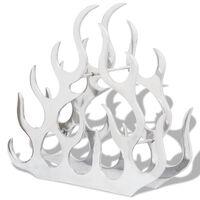 vidaXL Vinstativ for 11 flasker sølv aluminium