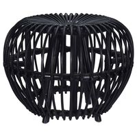 Home&Styling Kubu-skammel Brussel rotting svart