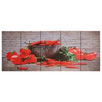 vidaXL Lerretsbilde paprika flerfarget 200x80 cm