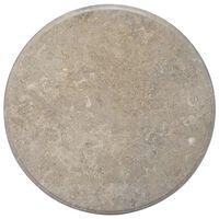 vidaXL Bordplate grå Ø70x2,5 cm marmor